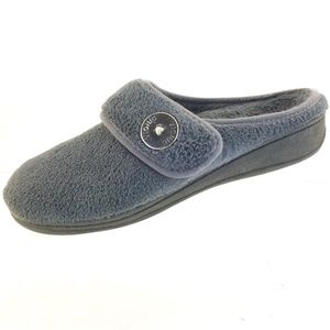 Vionic Sadie Slippers Gray Terry Orthopedic Strap
